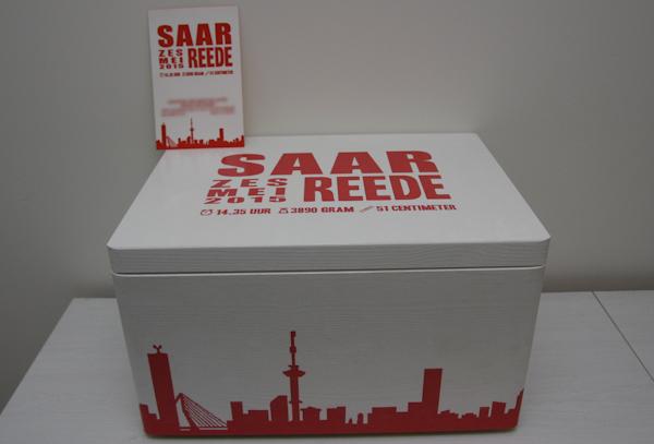 Bewaardoos - Houten doos met afbeelding - Saar