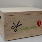Houten doos met logo, tekst of naam