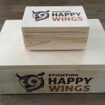Happy Wings - bedrukt houten kistje